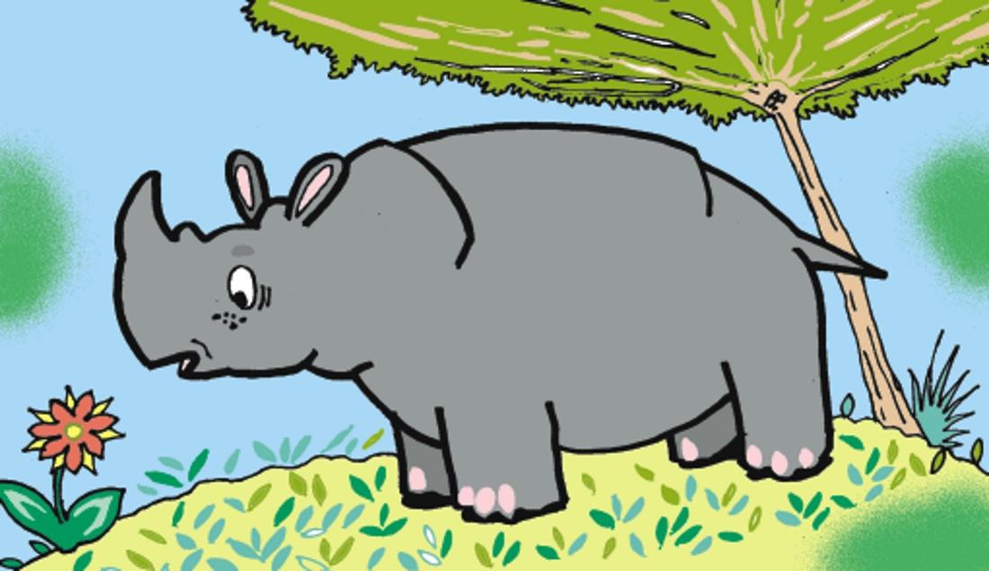 носороги картинки с сказки