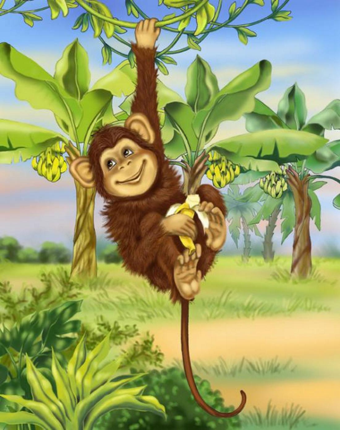 ведь обезьяна с бананами в картинках можно приклеить