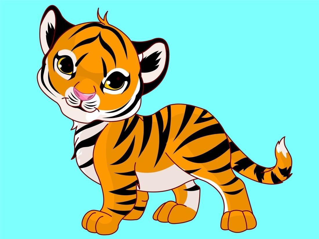 Картинка тигрят для детей