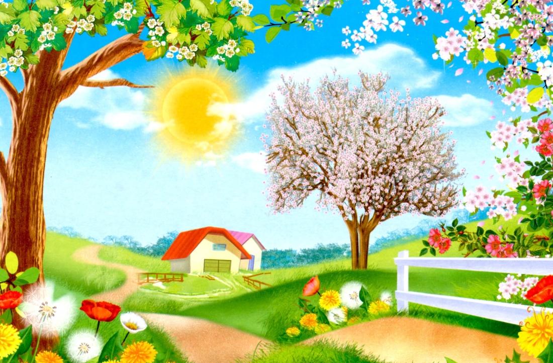 Весна картинки детские
