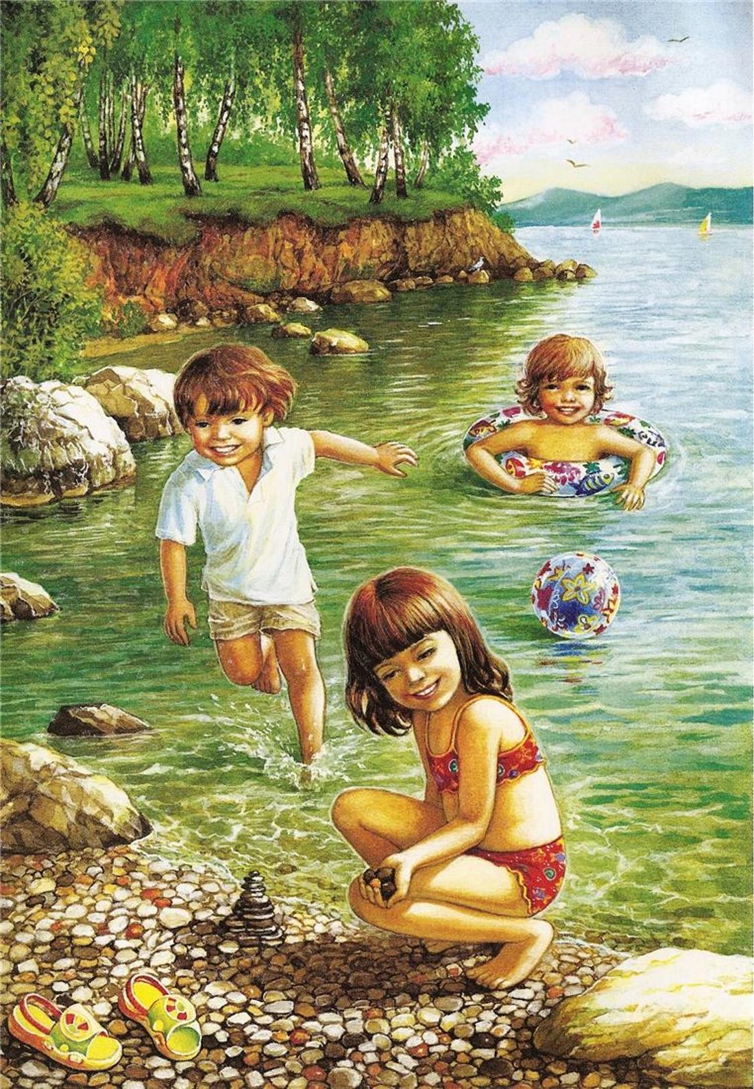 красивые картинки лето для малышей пляжи сумгаит, покрытые