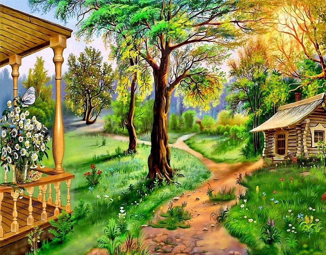 Красивые картинки природа рисованные