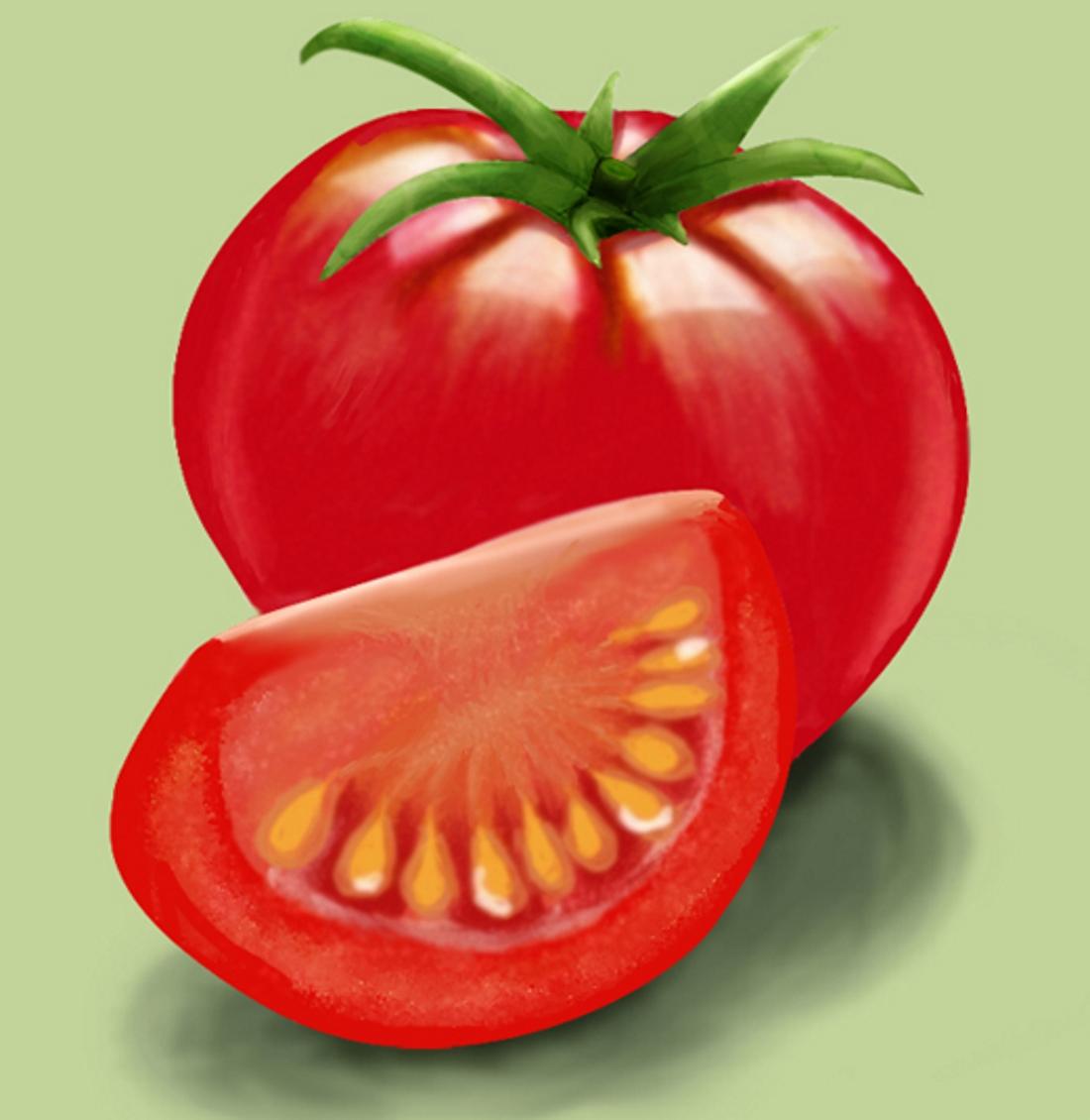картинка помидор рисовать бодрым здоровым, без