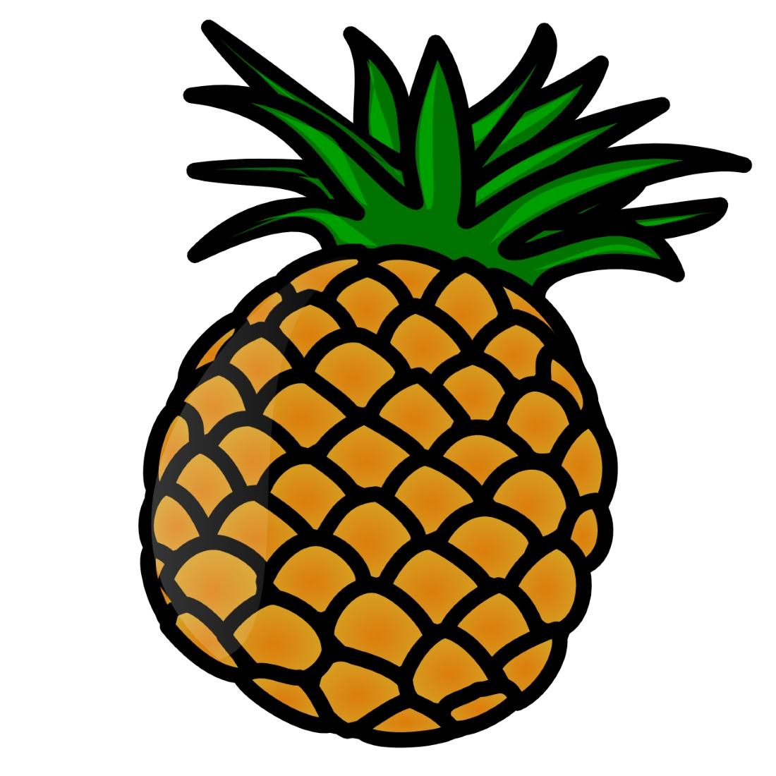 Картинка для детей ананасы