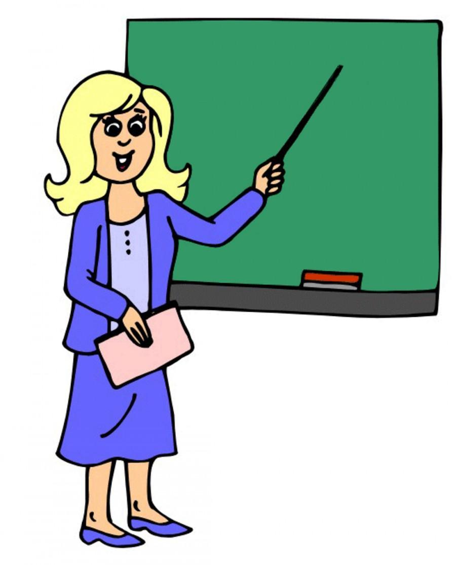 Учительница с указкой у доски - картинка №11444 | Printonic.ru