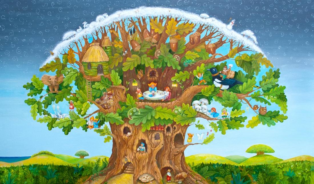рисунок сказочные деревья это девушка