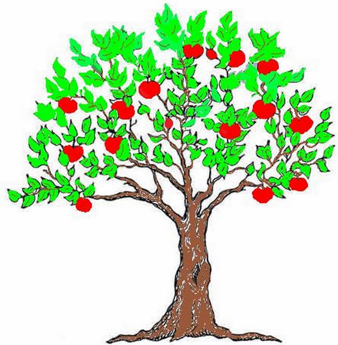 Яблоня с красными яблоками - картинка №12942 | Printonic.ru