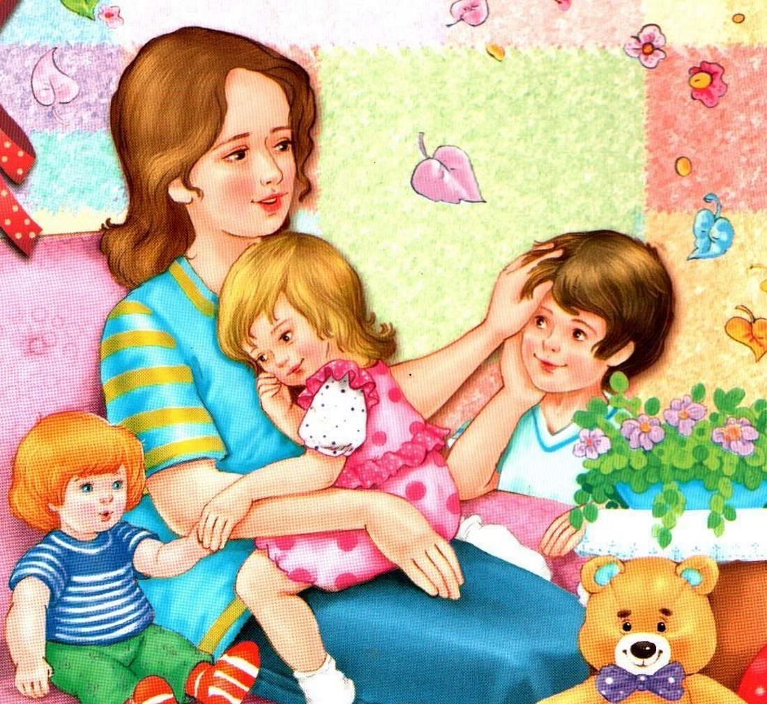 Картинка детский мама