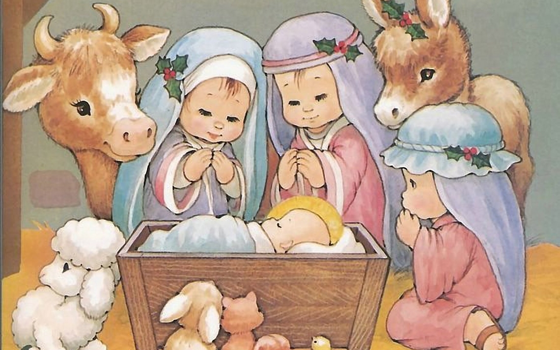 трехсторонняя детям о рождестве с картинками сучки аппетитными