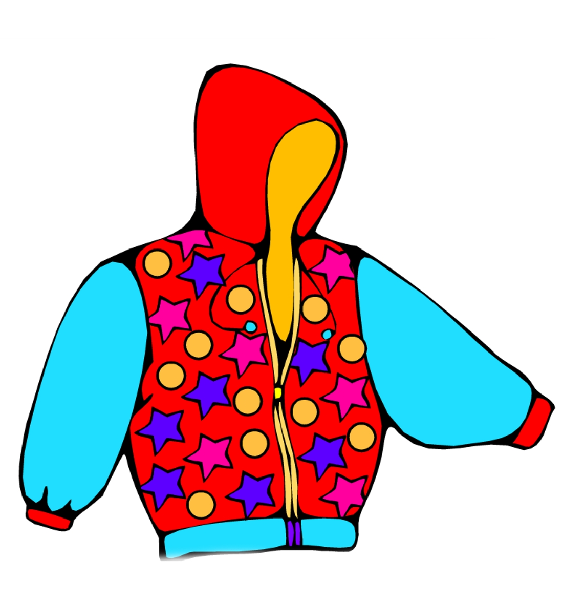 Одежда цветные картинки