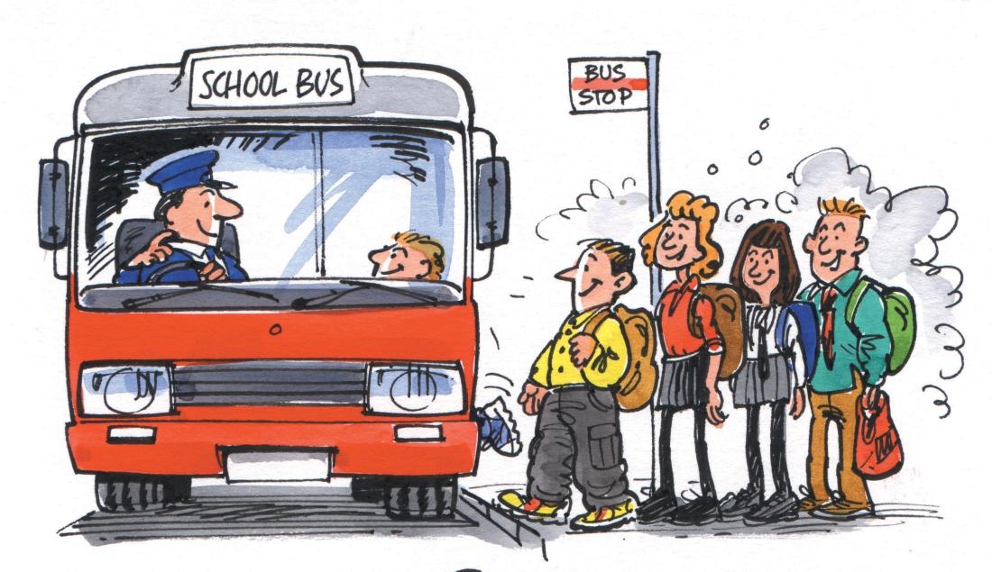 Картинка для детей водитель автобуса
