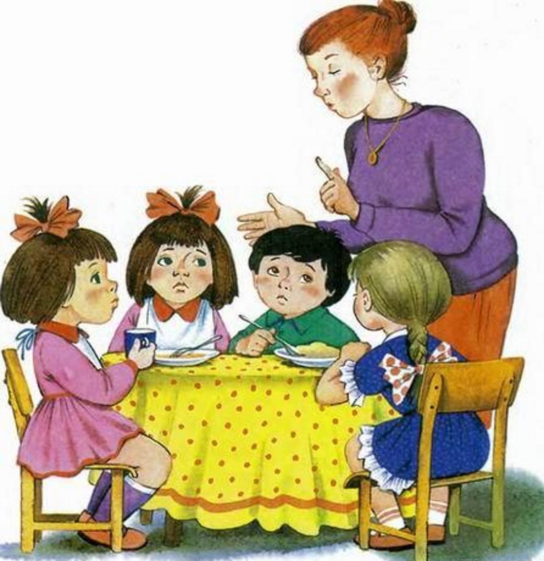 Картинки нянечки и детей в детском саду