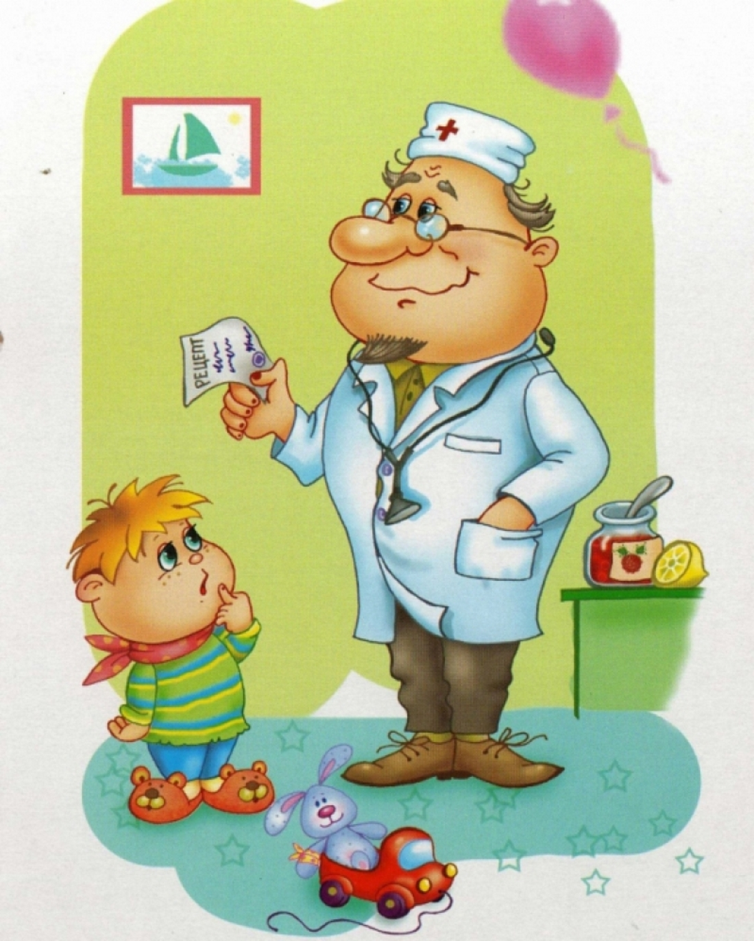 Детские картинки врача с ребенком