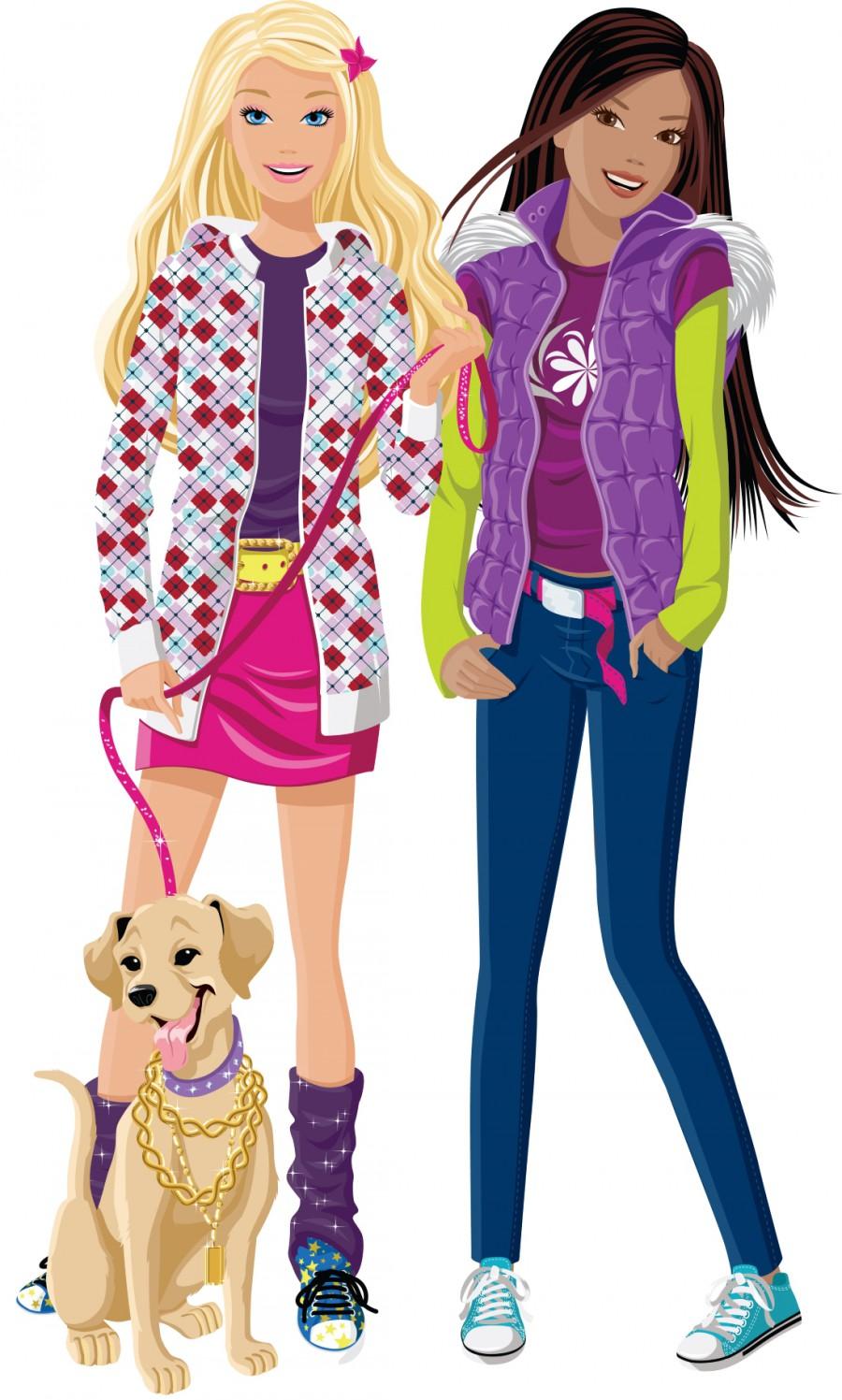 Барби с песиком и подругой - картинка №9419 | Printonic.ru