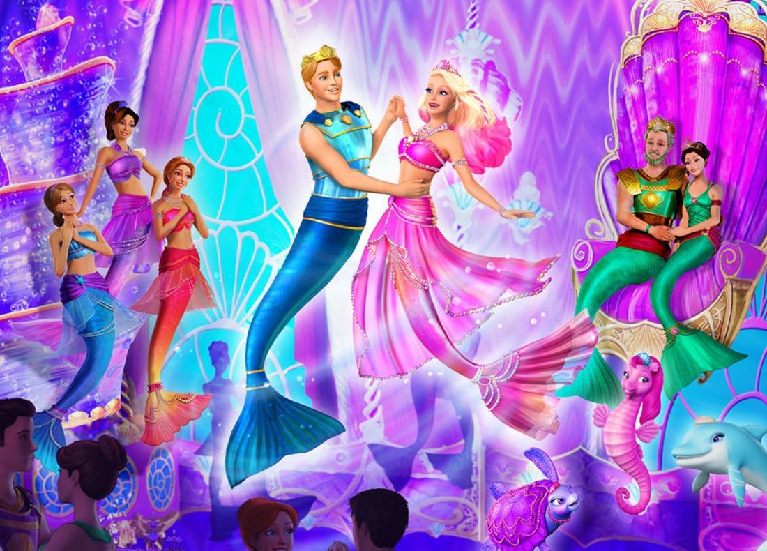 Барби русалка танцует с морским принцем - картинка №13831 ...