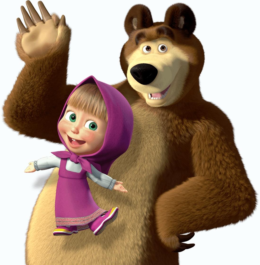 Картинки для мультика маша и медведь