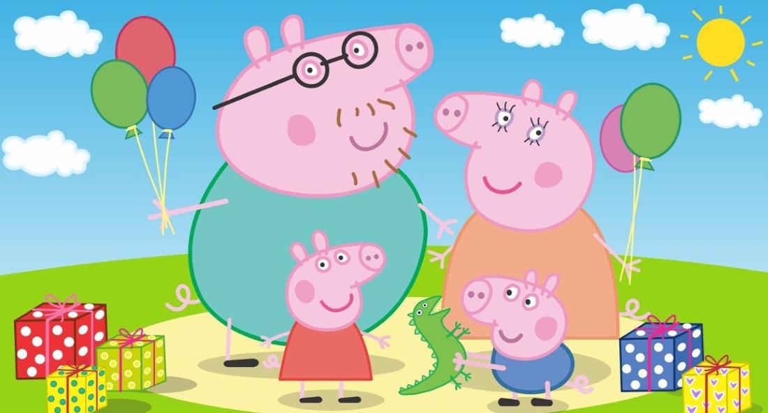 Свинка пеппа с семьей картинка