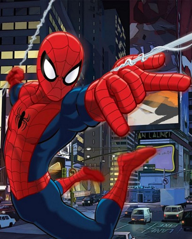 Человек паук прыгает по домам - картинка №14089 | Printonic.ru