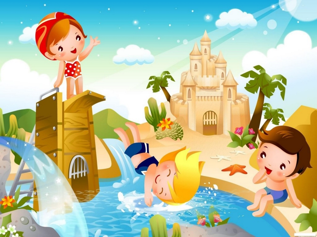 Картинки детей про лето