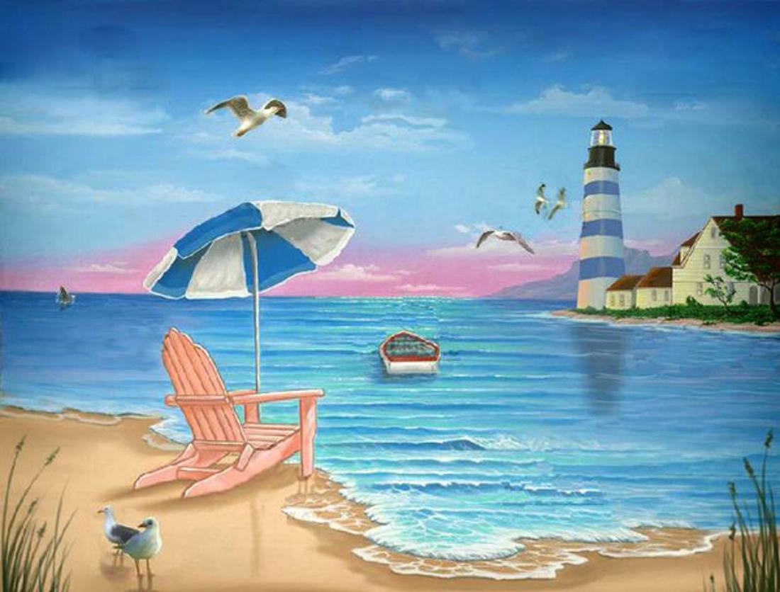 На море картинки нарисованные