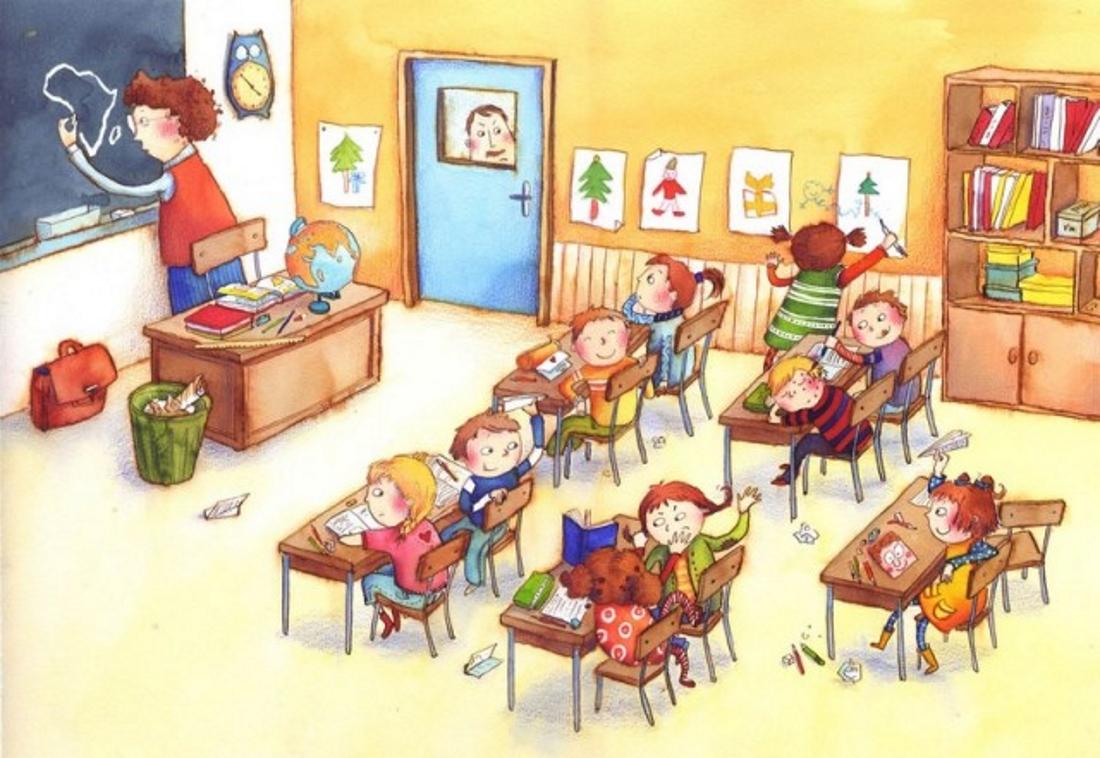 Рисунок про класс в школе нарисовать
