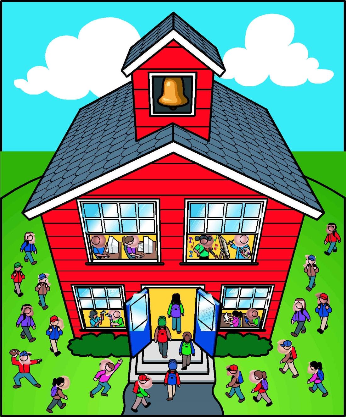 Картинки дом школа