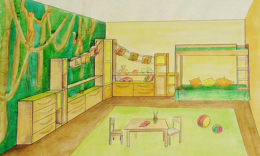 картинки по теме план моей комнаты при беглом