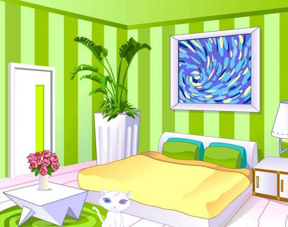 Картинка с изображением комнаты с мебелью