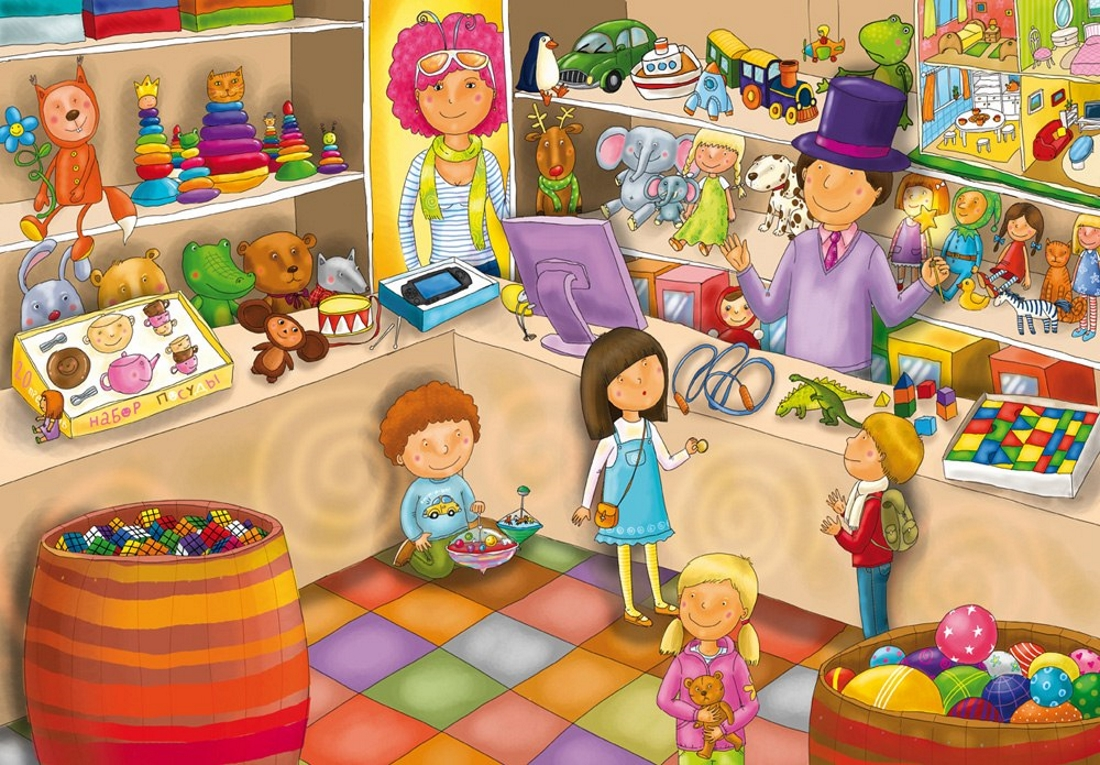 Картинка дети играют в магазин для детей