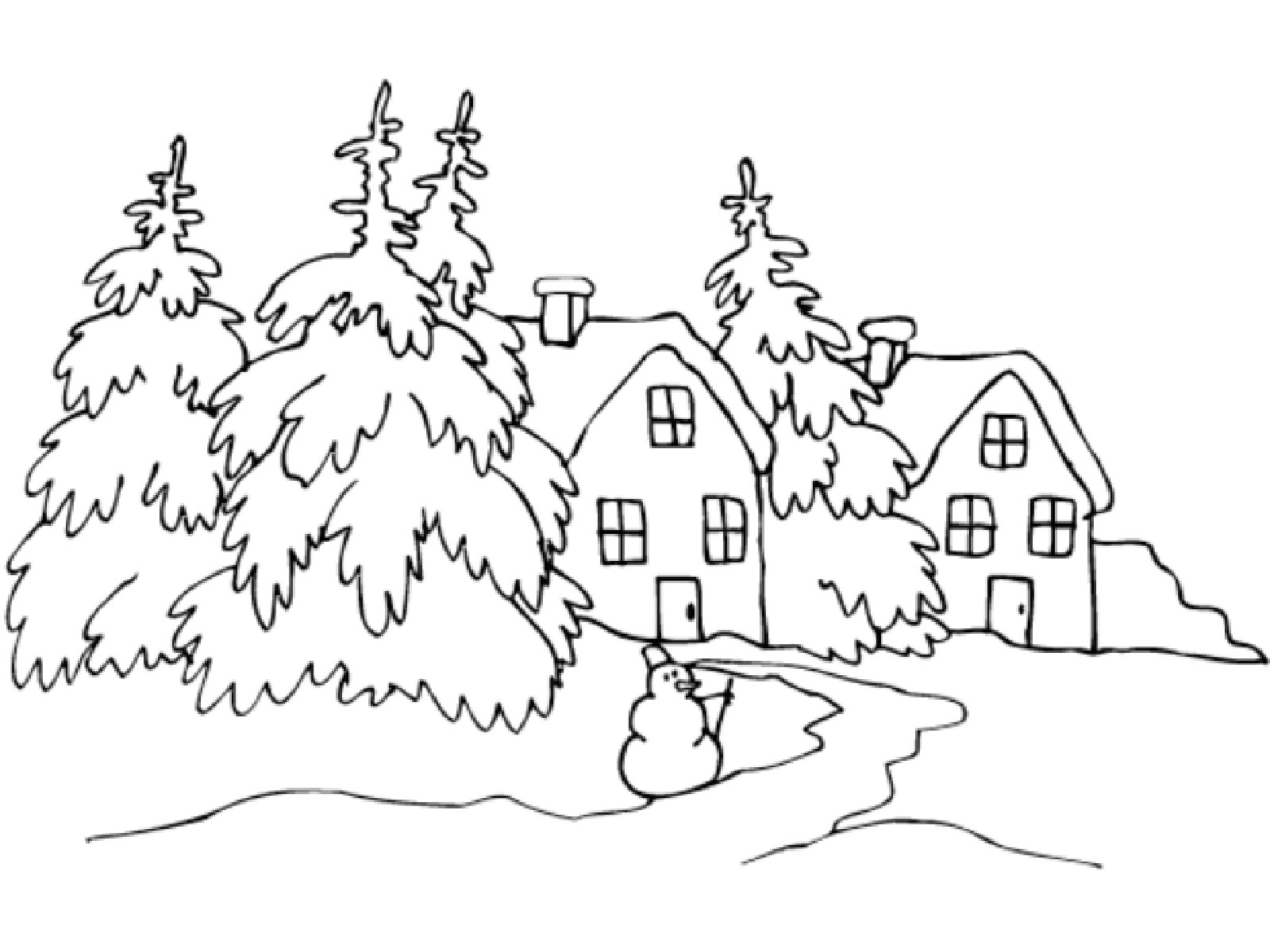 Зимние раскраска для детей