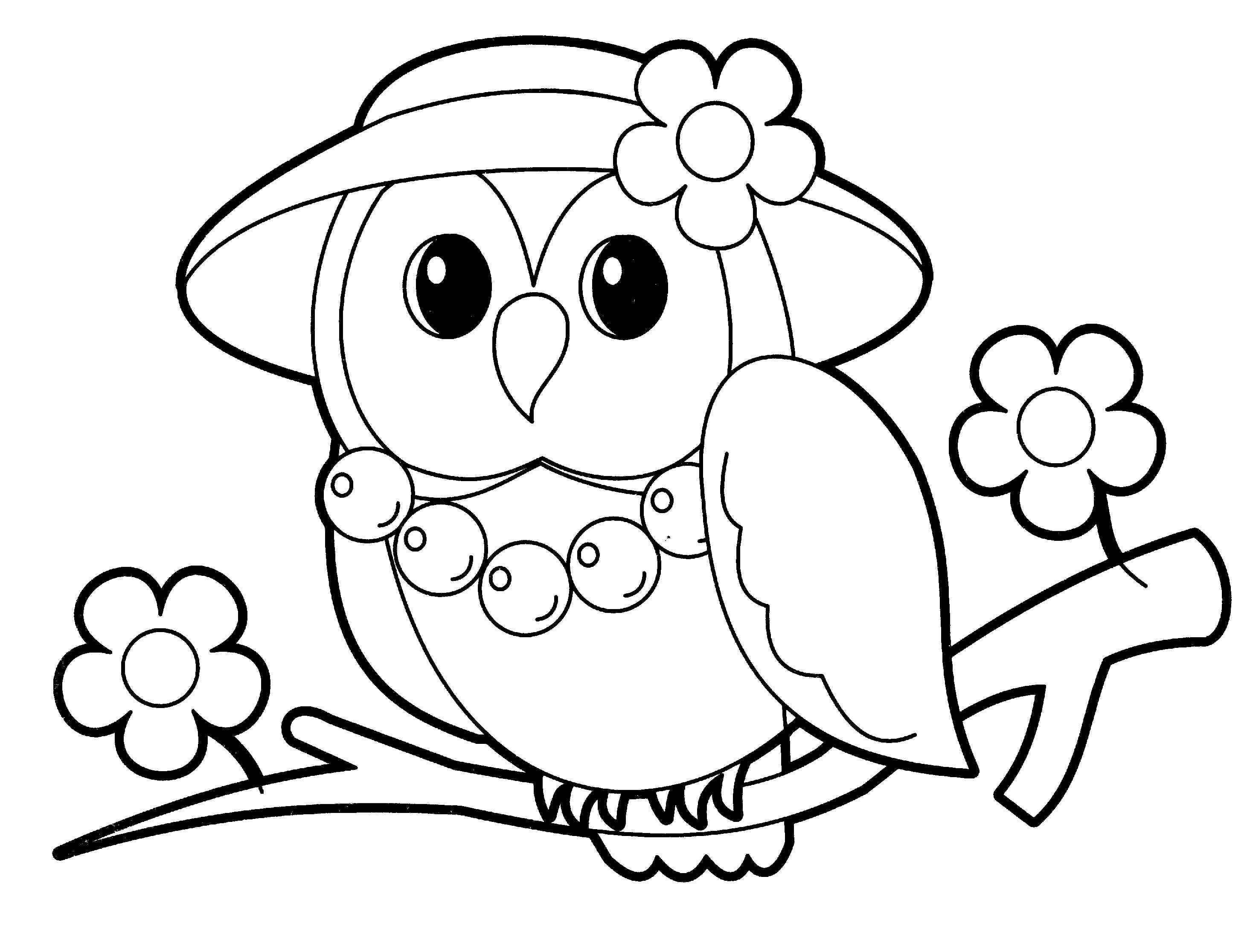 Раскраска для девочек совы
