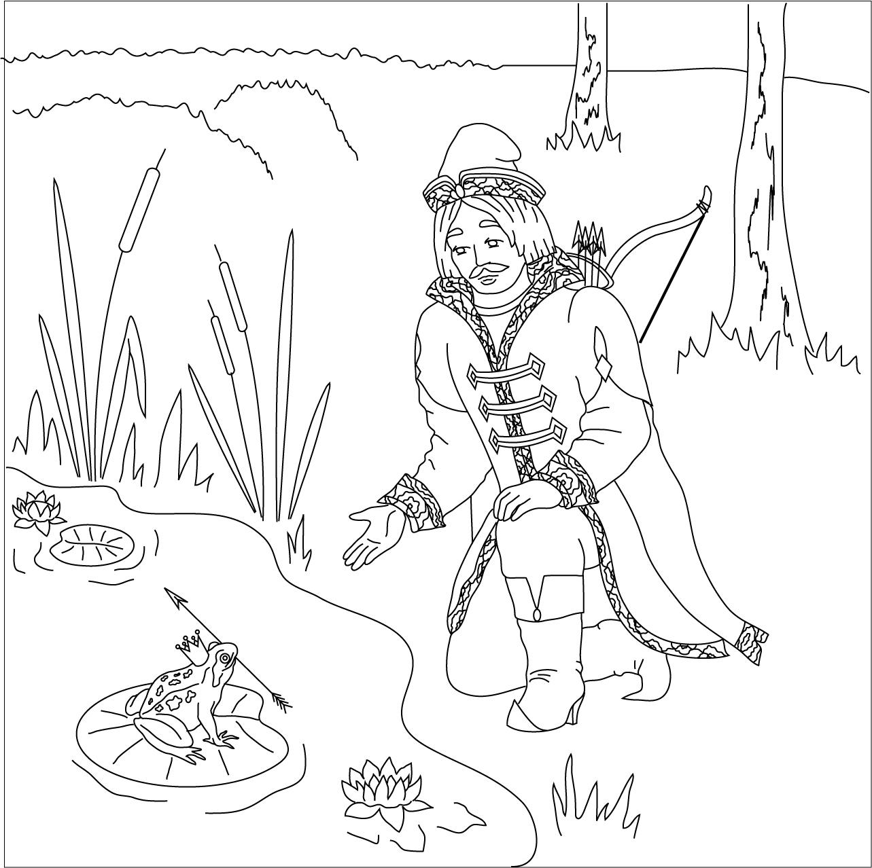раскраска сказки царевна лягушка в картинках