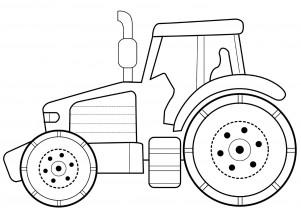 Трактор раскраска для малышей распечатать - 2