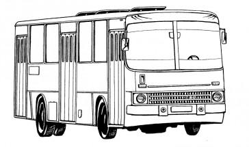 Раскраски машина автобус