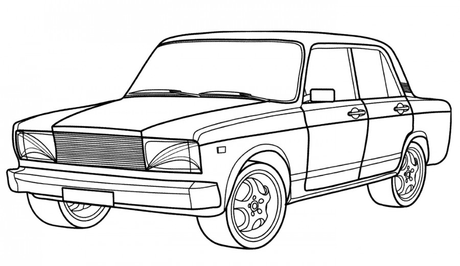 Машина ВАЗ - раскраска №266 | Printonic.ru