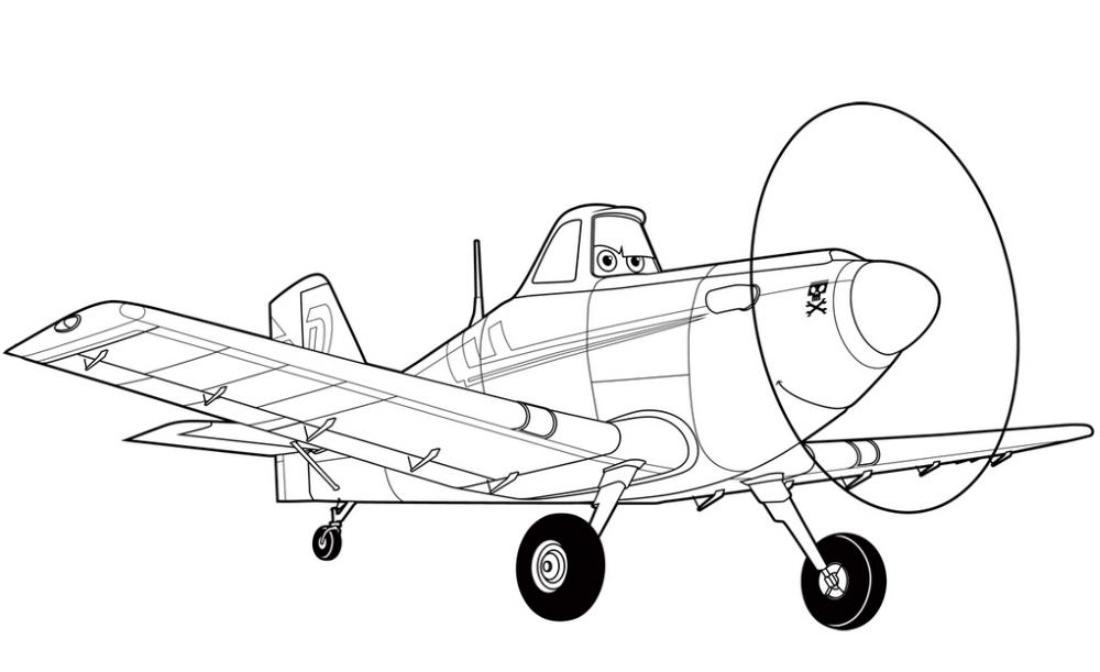 Самолеты тачки раскраска