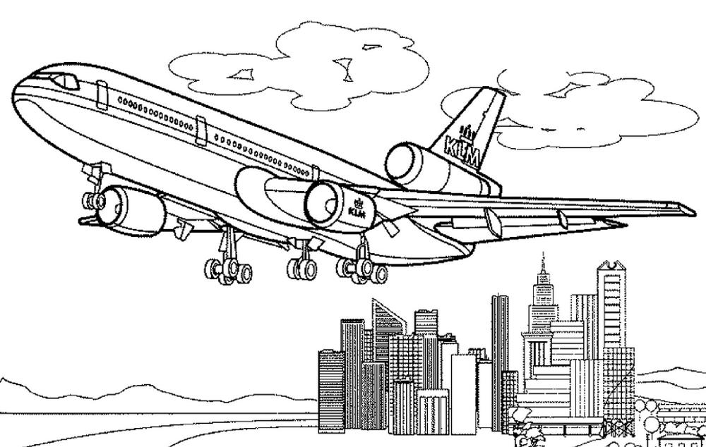 самолет пассажирский макдонел дуглас раскраска 187