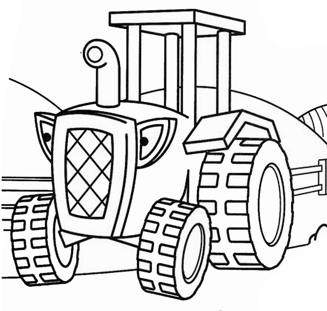 Трактор Боб - раскраска №216 | Printonic.ru