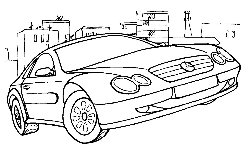 Рисунки для раскраски для мальчиков машины - 6