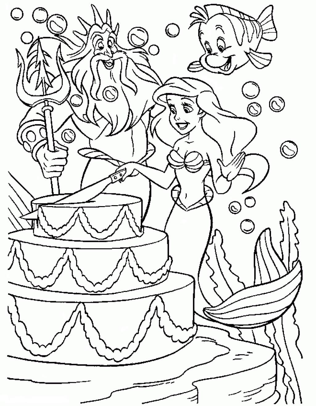 Раскраски для девочек русалки распечатать - 1
