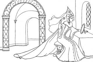 Картинки сказка о мертвой царевны и о семи богатырях