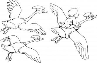 Раскраски лебедей распечатать