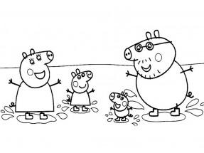 раскраски из мультика свинка пеппа распечатать или скачать