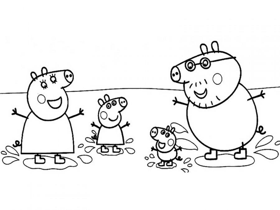 Раскраска свинки для детей