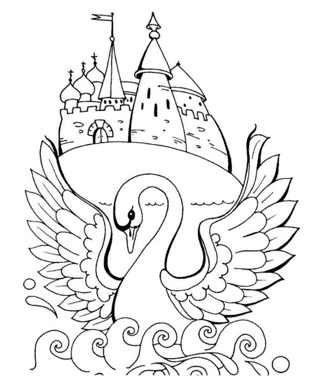 Картинки из русских народных сказок для детей раскраски 7