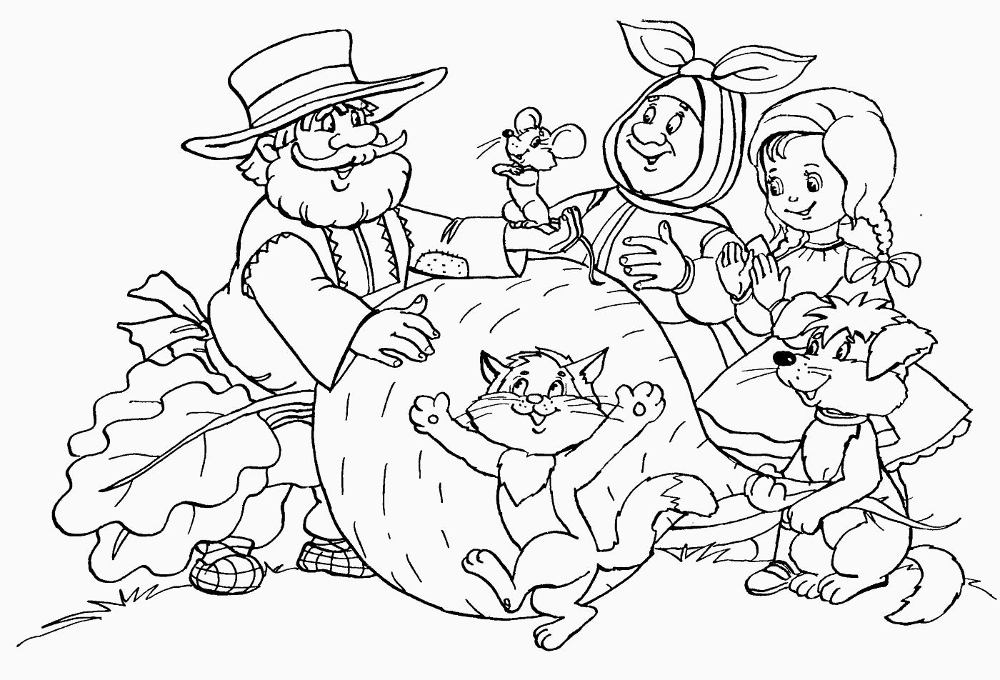 Раскраски для начальной школы по сказкам