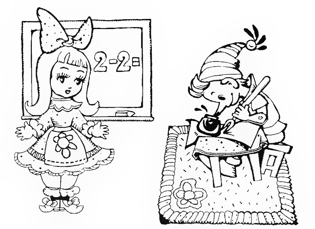 Раскраски для девочек сказки распечатать