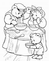 раскраски по сказке три медведя распечатать или скачать