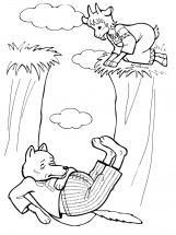 раскраски по сказке волк и семеро козлят распечатать или