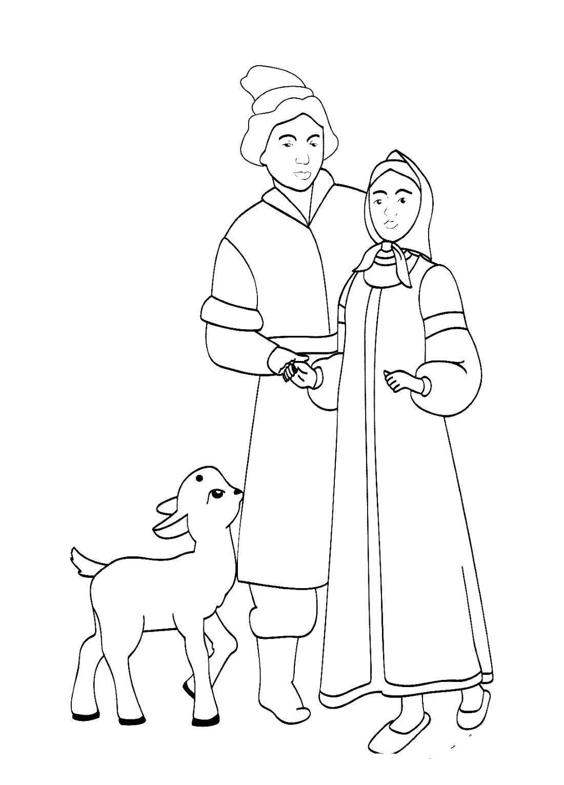 Сестрица аленушка и братец иванушка картинки раскраски